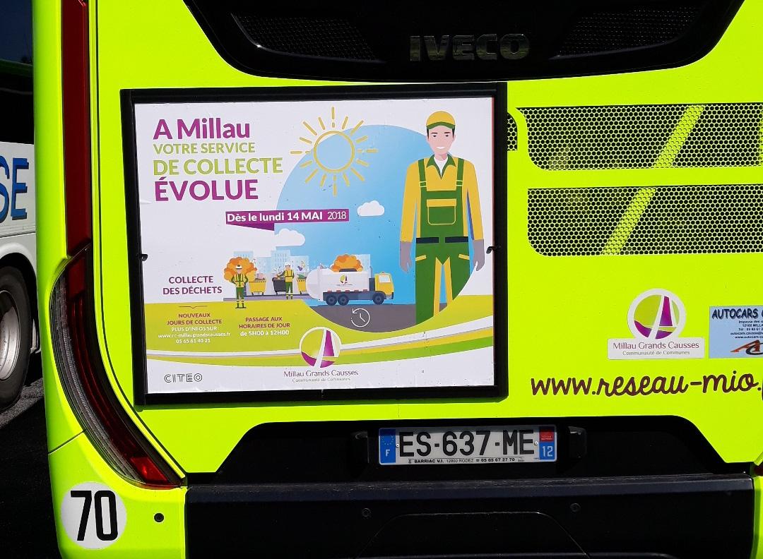 Affichage Bus Millau